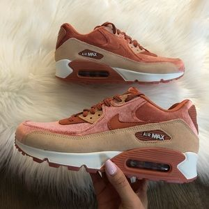1f2bd95602c5 Nike Shoes - Brand New Nike Air Max 90 Velvet Suede Dusty Peach